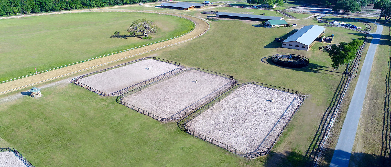An aerial view of the facility